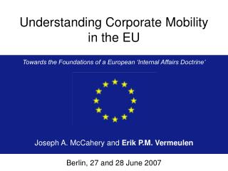 Understanding Corporate Mobility in the EU