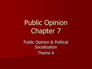 Public Opinion Chapter 7