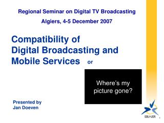 Compatibility of  Digital Broadcasting and  Mobile Services