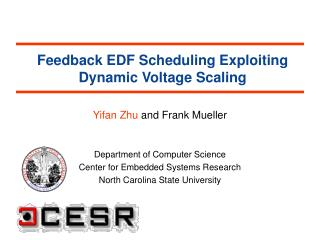 Feedback EDF Scheduling Exploiting Dynamic Voltage Scaling