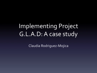 Project GLAD Research Study