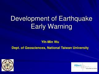 Development of Earthquake Early Warning