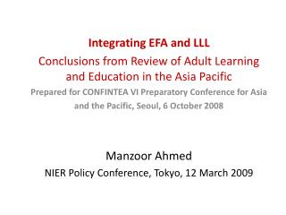 Integrating EFA and LLL
