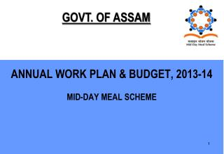 ANNUAL WORK PLAN & BUDGET, 2013-14 MID-DAY MEAL SCHEME