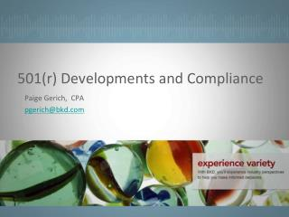 501(r) Developments and Compliance