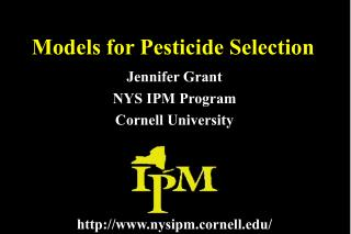 Models for Pesticide Selection