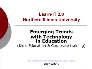 Learn-IT 2.0 Learn-IT 2.0 Learn-IT 2.0 Northern Illinois University