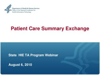 Patient Care Summary Exchange