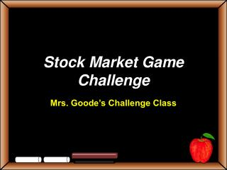 Stock Market Game Challenge