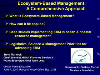 Ecosystem-Based Management: A Comprehensive Approach