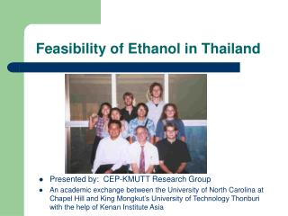Feasibility of Ethanol in Thailand
