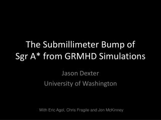 The Submillimeter Bump of Sgr A* from GRMHD Simulations