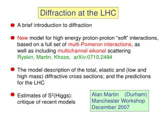 Diffraction at the LHC