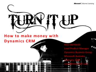 How to make money with Dynamics CRM