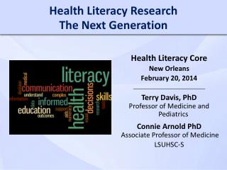 Health Literacy Research The Next Generation