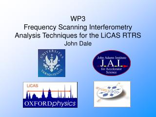 WP3 Frequency Scanning Interferometry Analysis Techniques for the LiCAS RTRS