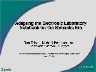 Adapting the Electronic Laboratory Notebook for the Semantic Era