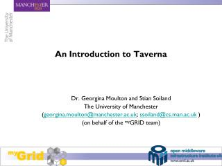 An Introduction to Taverna