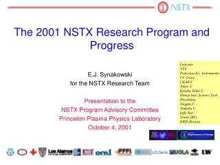 The 2001 NSTX Research Program and Progress