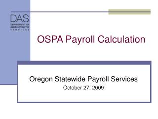 OSPA Payroll Calculation