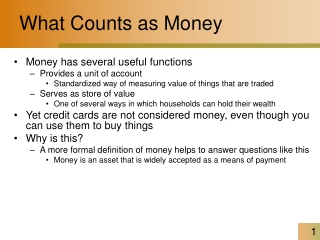 What Counts as Money