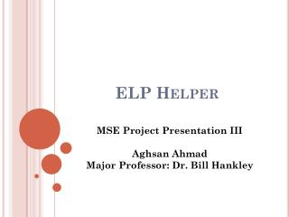 ELP Helper