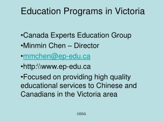 Education Programs in Victoria