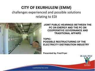 CITY OF EKURHULENI (EMM) challenges experienced and possible solutions relating to EDI