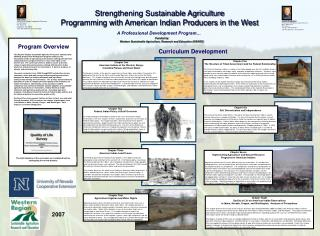 Strengthening Sustainable Agriculture Programming with American Indian Producers in the West