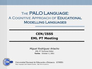 The PALO Language :  A Cognitive Approach  of  Educational Modelling Languages