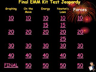 Final EMM Kit Test Jeopardy