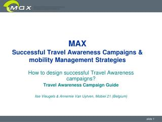 MAX Successful Travel Awareness Campaigns & mobility Management Strategies