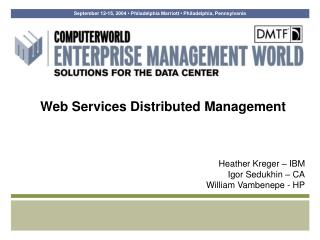 Web Services Distributed Management