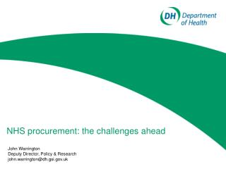 NHS procurement: the challenges ahead