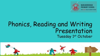 Phonics, Reading and Writing Presentation Tuesday 1 st October