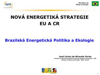 NOVÁ ENERGETIKÁ STRATEGIE EU A CR