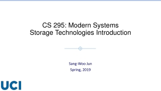 CS 295: Modern Systems Storage Technologies Introduction