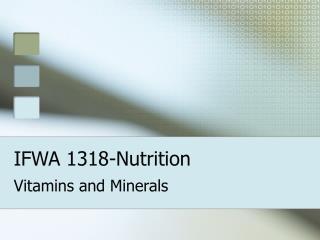 IFWA 1318-Nutrition