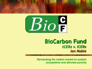 BioCarbon Fund tCERs v. lCERs Ian Noble