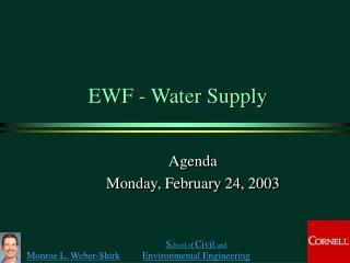EWF - Water Supply