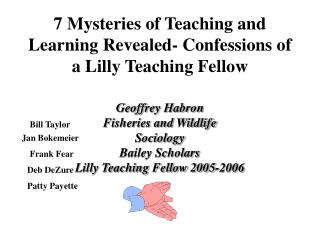 7 Mysteries of Teaching and Learning Revealed- Confessions of a Lilly Teaching Fellow