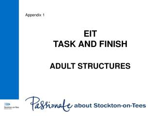 EIT TASK AND FINISH