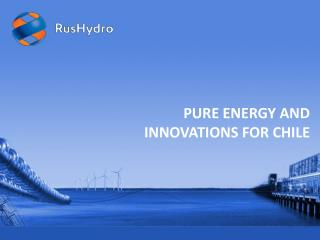 PURE  ENERGY AND  INNOVATIONS FOR CHILE