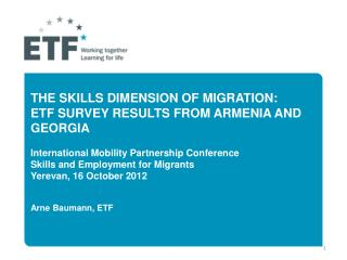 Why ETF works on skills and migration