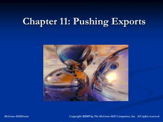 Chapter 11: Pushing Exports