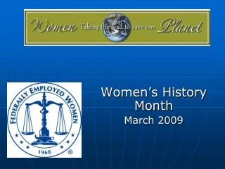 Women's History Month March 2009