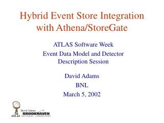 Hybrid Event Store Integration with Athena/StoreGate
