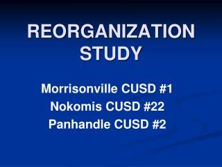 REORGANIZATION STUDY