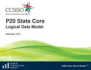 P20 State Core Logical Data Model