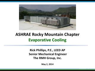 ASHRAE Rocky Mountain Chapter Evaporative Cooling